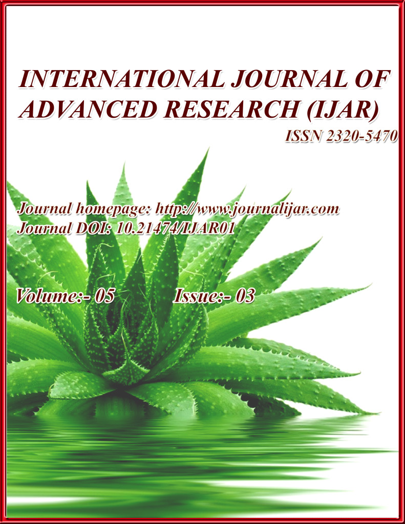 E Journal International Journal Of Advanced Research